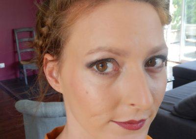Maquillage et coiffure marige
